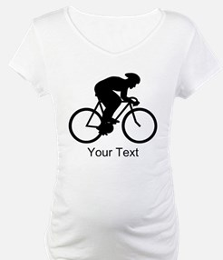 Cyclist Silhouette with Text. Shirt