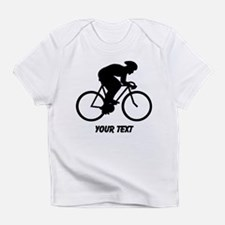Cyclist Silhouette with Text. Infant T-Shirt