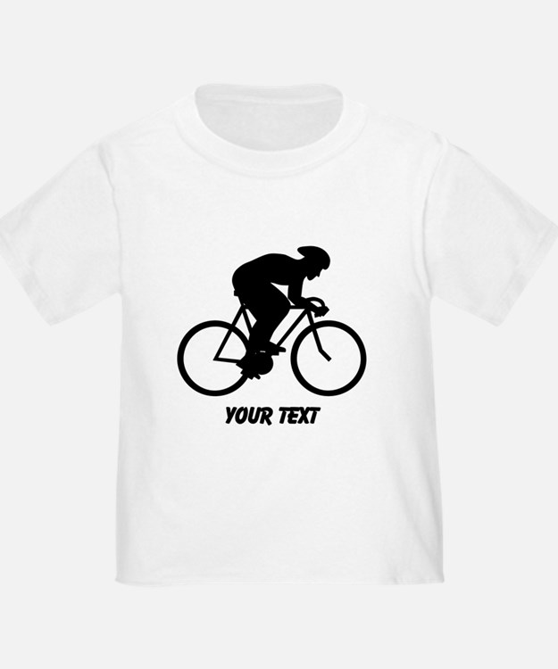 Cyclist Silhouette with Text. T-Shirt