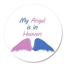 Angel in Heaven with wings Round Car Magnet