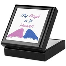 Angel in Heaven with wings Keepsake Box