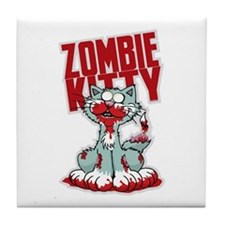 Zombie Kitty Tile Coaster