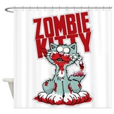 Zombie Kitty Shower Curtain