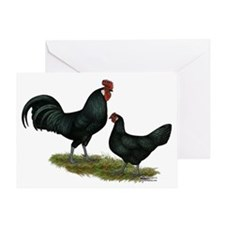 Augsburger Chickens Greeting Card