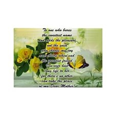 Mothers Day Poem with Roses and Butterfly Rectangl