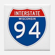 Interstate 94 - WI Tile Coaster