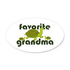 Favorite Grandma Oval Car Magnet