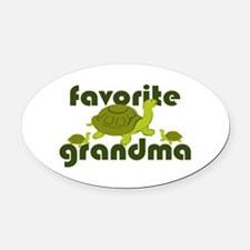 Favorite Grandma Oval Car Magnet