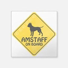 "Amstaff On Board Square Sticker 3"" x 3"""