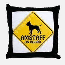 Amstaff On Board Throw Pillow