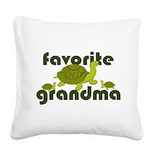 Favorite Grandma Square Canvas Pillow