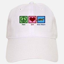 Peace Love Honey Badgers Baseball Baseball Cap
