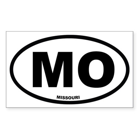 MO Missouri Euro Oval Sticker