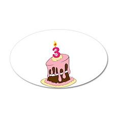 3rd Birthday cake/ Wall Decal