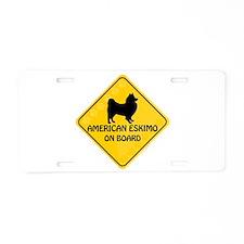 American Eskimo On Board Aluminum License Plate
