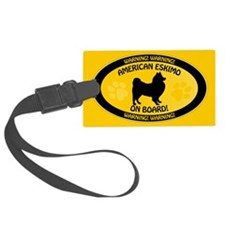 American Eskimo On Board Luggage Tag