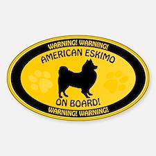 American Eskimo On Board Decal