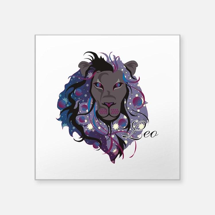 """Starlight Leo Square Sticker 3"""" x 3"""""""