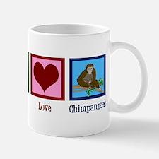 Peace Love Chimps Mug
