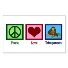 Peace Love Chimps Decal