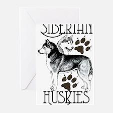 Siberian Huskies Greeting Cards (Pk of 10)