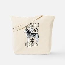 Siberian Huskies Tote Bag