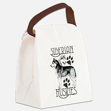 Siberian Huskies Canvas Lunch Bag