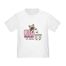 Big Sister of Twins (Kitty) T-Shirt