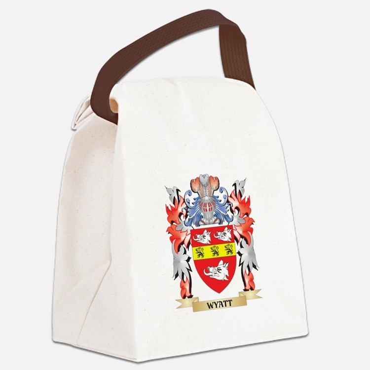 Wyatt Coat of Arms - Family Crest Canvas Lunch Bag