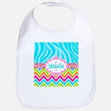 Bright Chevron Animal Print Bib
