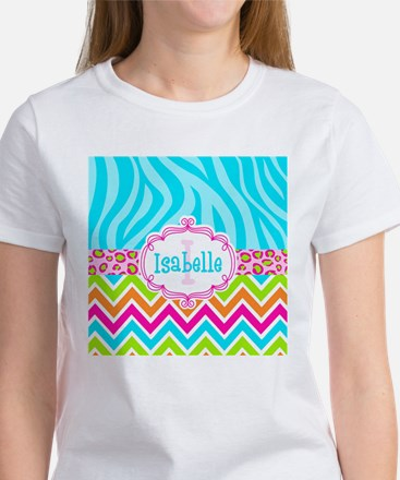 Bright Chevron Animal Print Women's T-Shirt