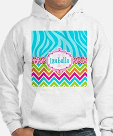 Bright Chevron Animal Print Hoodie