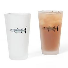 Great Barracuda fish Drinking Glass