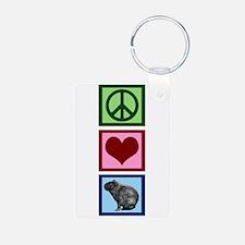 Peace Love Capybaras Keychains