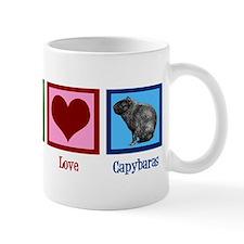 Peace Love Capybaras Mug