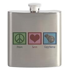Peace Love Capybaras Flask
