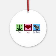 Peace Love Capybaras Ornament (Round)