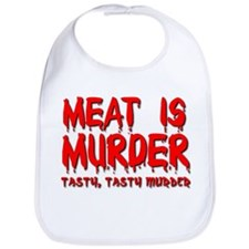 Meat is Murder Tasty Tasty Murder Funny T-Shirt Bi