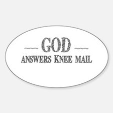 God Answers Knee Mail Decal