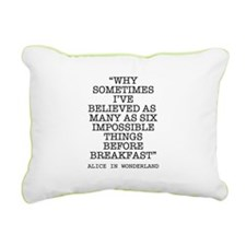 ALICE QUOTE Rectangular Canvas Pillow