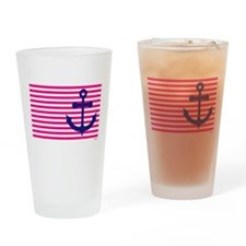 Anchors Away Flag w/Lilly Pulitzer Drinking Glass