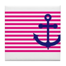 Anchors Away Flag w/Lilly Pulitzer Tile Coaster