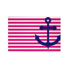 Anchors Away Flag w/Lilly Pulitzer Rectangle Magne