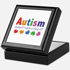Autism Doesn't Take A Day Off Keepsake Box