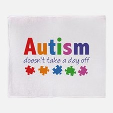 Autism Doesn't Take A Day Off Stadium Blanket