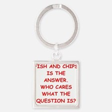 fish and chips Keychains