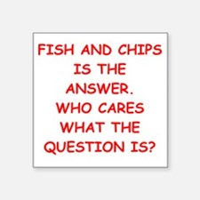fish and chips Sticker