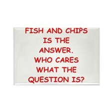 fish and chips Rectangle Magnet