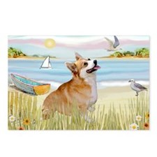 Rowboat & Corgi (Pem) Postcards (Package of 8)