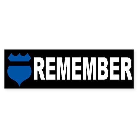Remember Fallen Officers Bumper Sticker